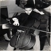 Valentin Vasiliu in his first public concert as cellist at age 8 Bucharest